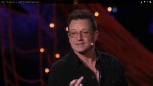Art of public speaking: Bono flip bird at ted image
